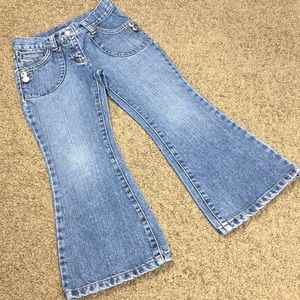 Gymboree Flared Rhinestone Button Jeans Size 5T